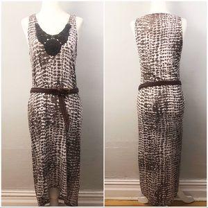 Leopard Animal Print Hi-Lo Maxi Dress / Cover-Up